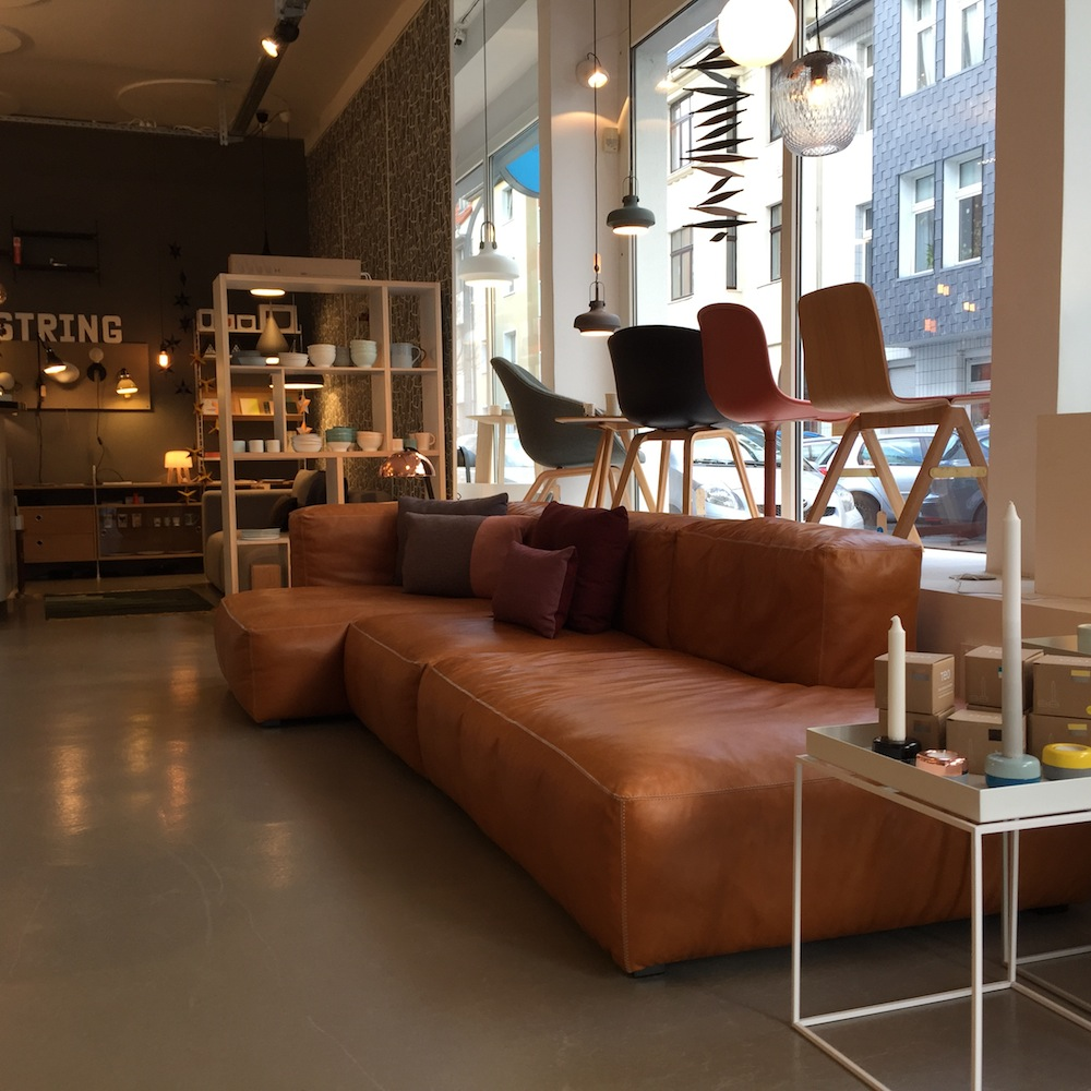 hay sofa mags leder traditional leather sleeper soft in silk - möbel & design köln