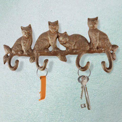 Hakenleiste Katzen aus wetterfestem Gusseisen