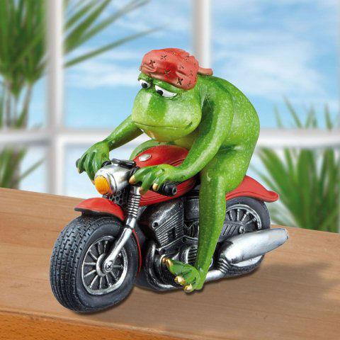 Deko Frosch auf Motorrad Easy Rider Dekofigur Geschenkidee