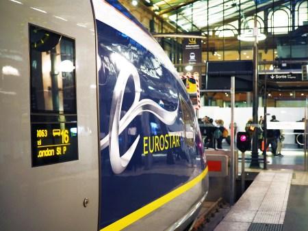 Eurostar from Paris to London