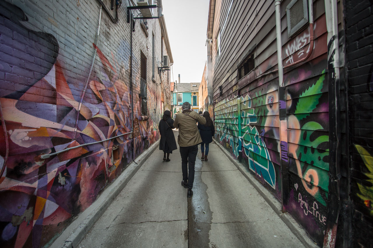Alleyway in Kensington Market Toronto