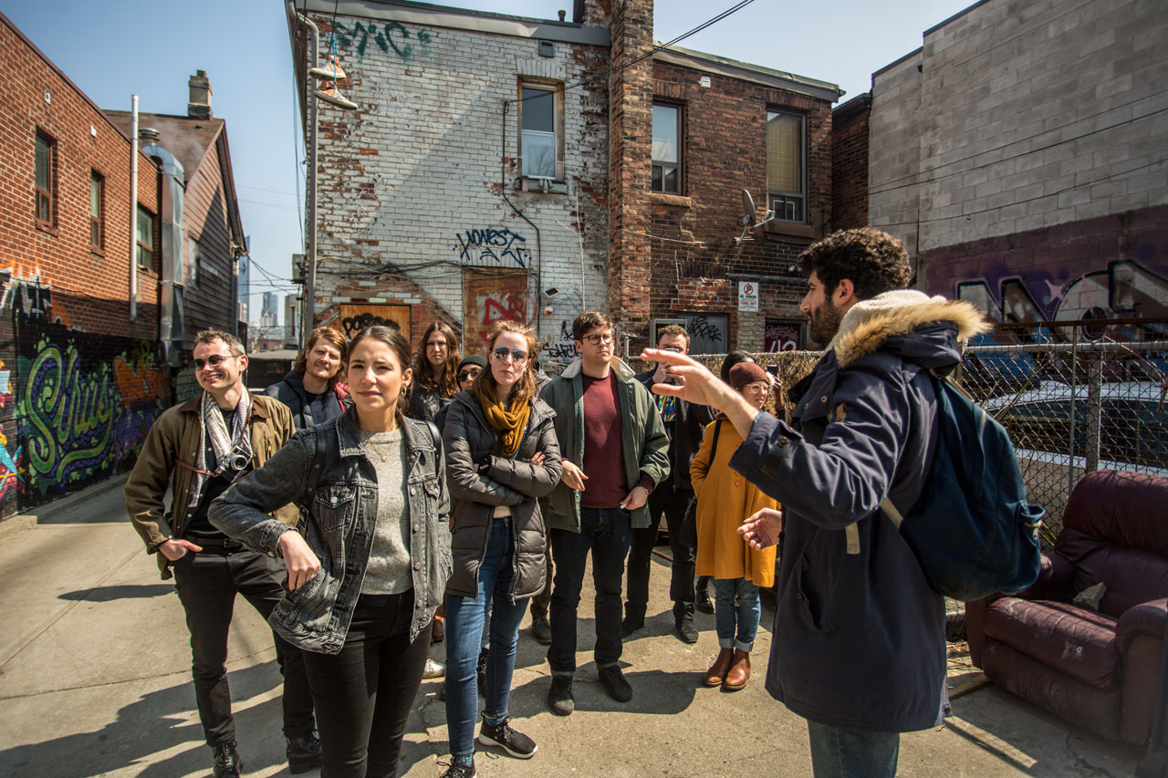 Chinatown & Kensington Market Toronto Food Tour exploring the back alleys