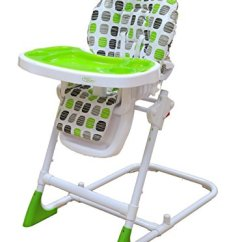 Green High Chair Covers And Linens Indianapolis Bebe Style Modern Hilo Adjustable Recline Highchair