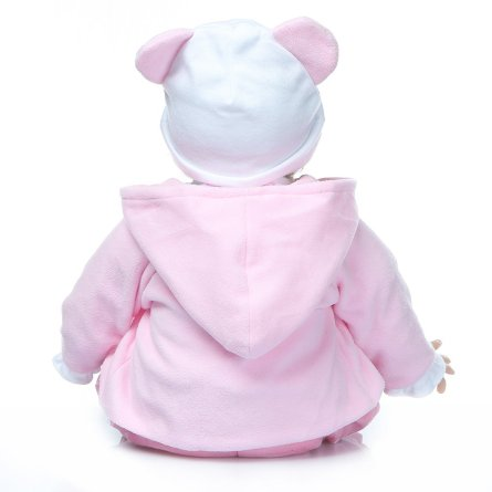 "22"" Reborn Baby Doll in Bear Dress"