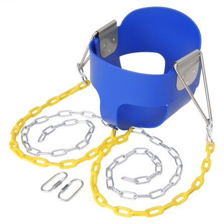 Stuff Highback Full Bucket Swing Blue