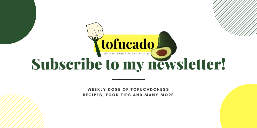 Subscribe to tofucado newsletter