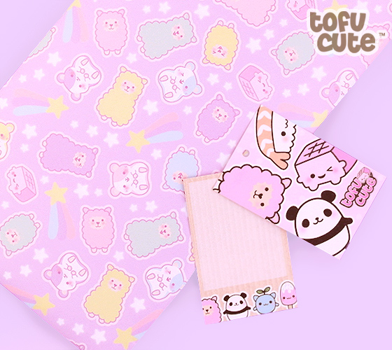 Cute Keychains Wallpapers Buy Tofu Cute Gift Wrap Set Kawaii Pastel Alpaca