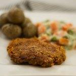 Vegane Schnitzel - Medaillons mit knuspriger Panade