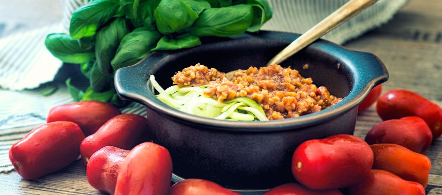 Grünkern Tomaten Bolognese – der Klassiker