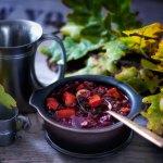 Linseneintopf mit Kürbis und Rote Beete