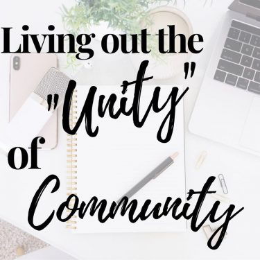 unity in virtual community