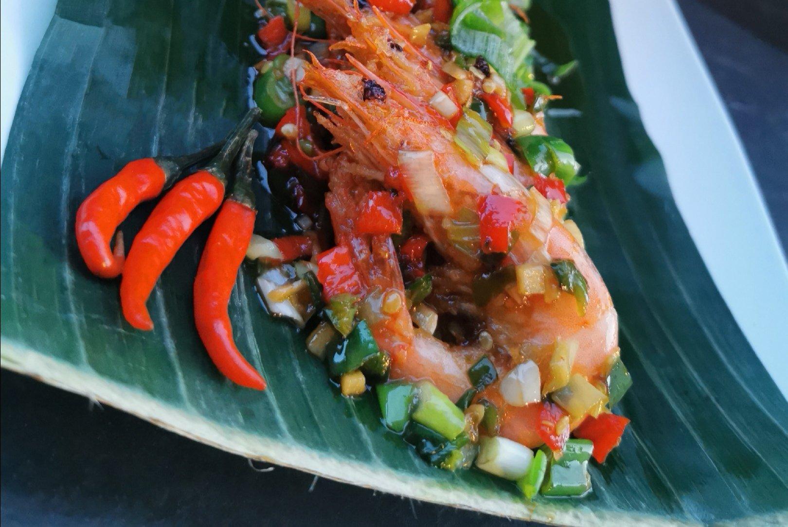Thaise knoflook garnalen met pepers