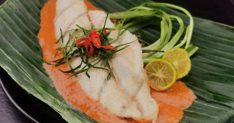Red snapper met snelle chilicurry saus