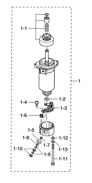 10. STARTER MOTOR : , Reliable Source of Nissan Tohatsu