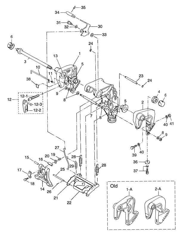 19. CLAMP BRACKET (STERN BRACKET) & REVERSE LOCK
