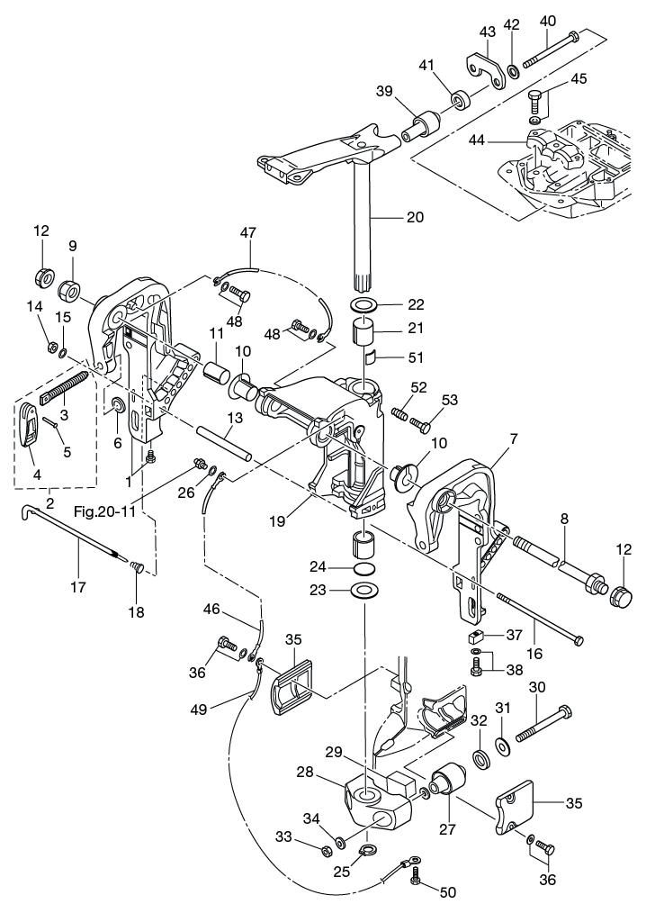 18. BRACKET (1) MANUAL TILT : , Reliable Source of Nissan