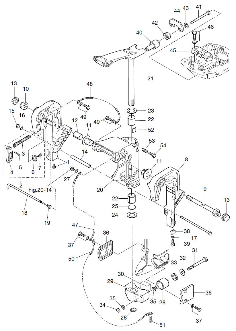 18. BRACKET (1) MANUAL TILT : , Reliable Source of Nissan