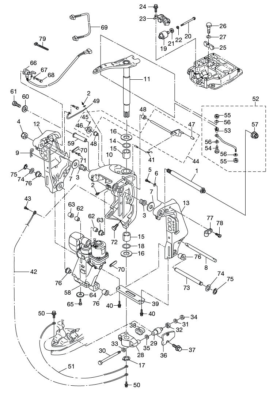 16. BRACKET : , Reliable Source of Nissan Tohatsu Boat