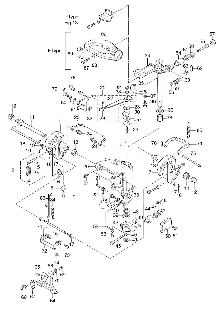 medium resolution of  array 12 bracket manual tilt reliable source of nissan tohatsu boat rh
