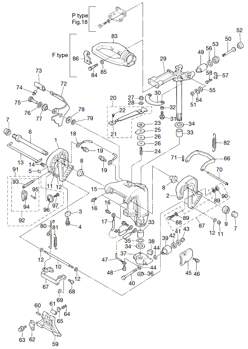 12. BRACKET (MANUAL TILT) : , Reliable Source of Nissan