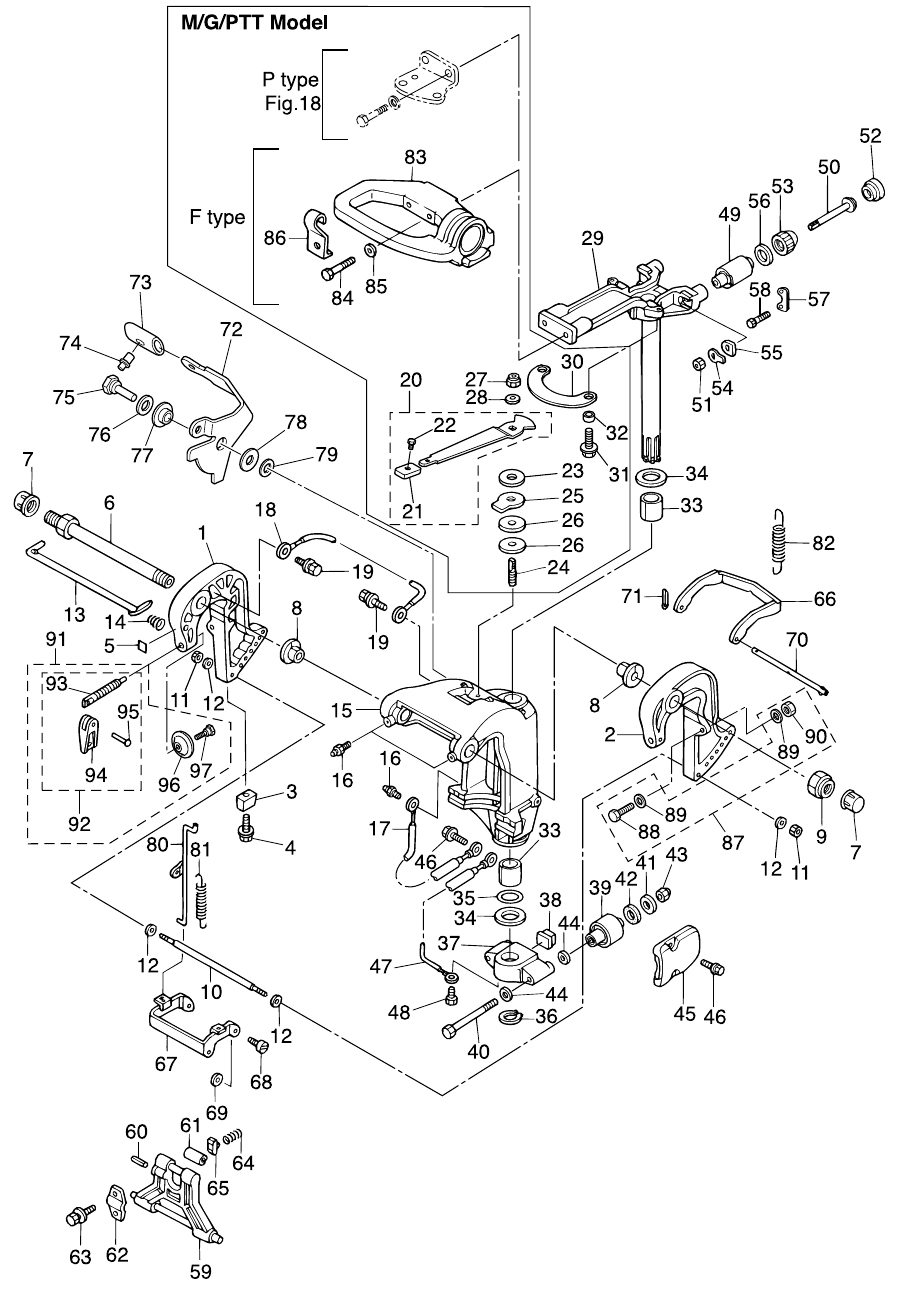 13. BRACKET (MANUAL TILT) : , Reliable Source of Nissan