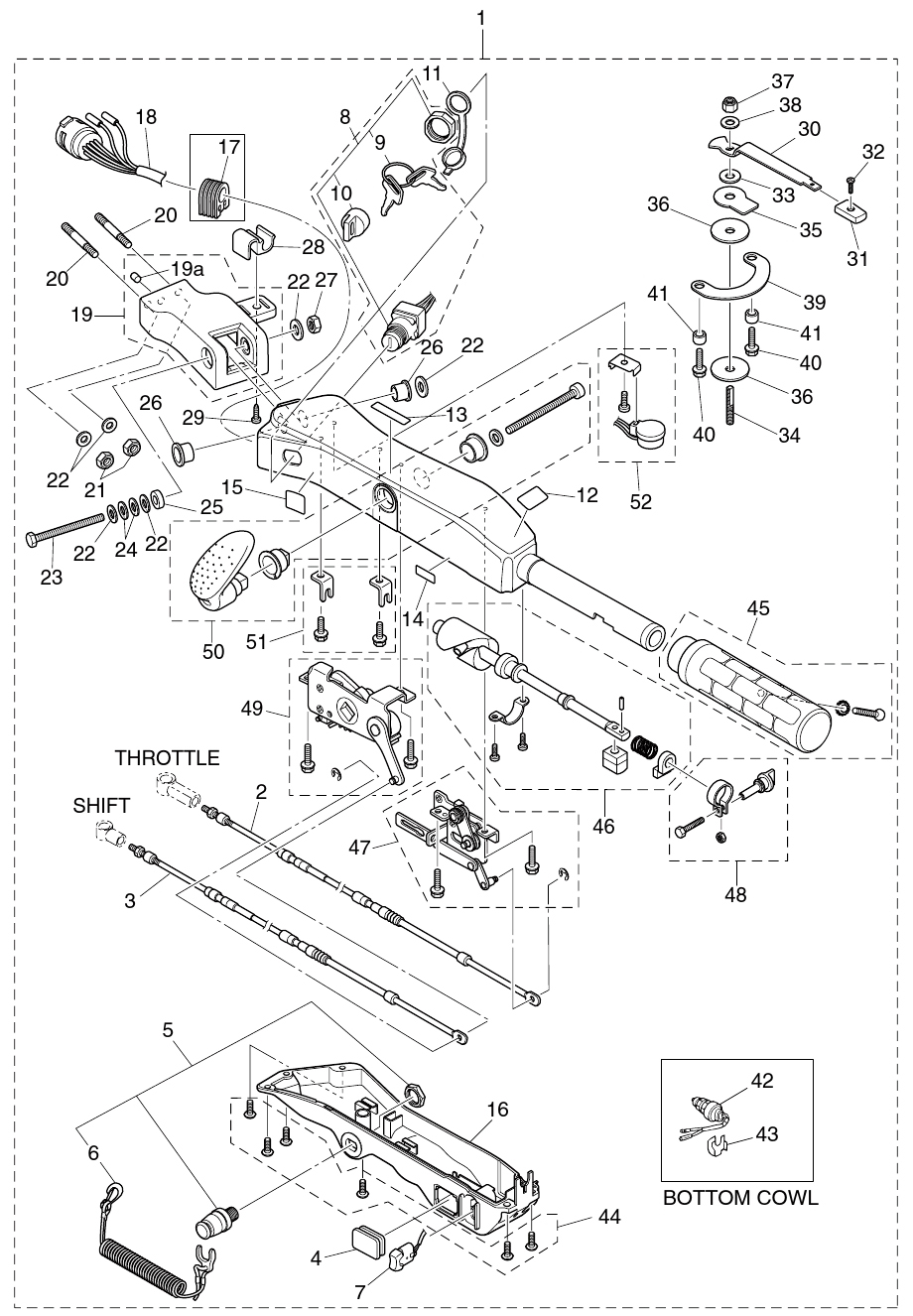 22. TILLER HANDLE (MULTI-FUNCTION) : , Reliable Source of