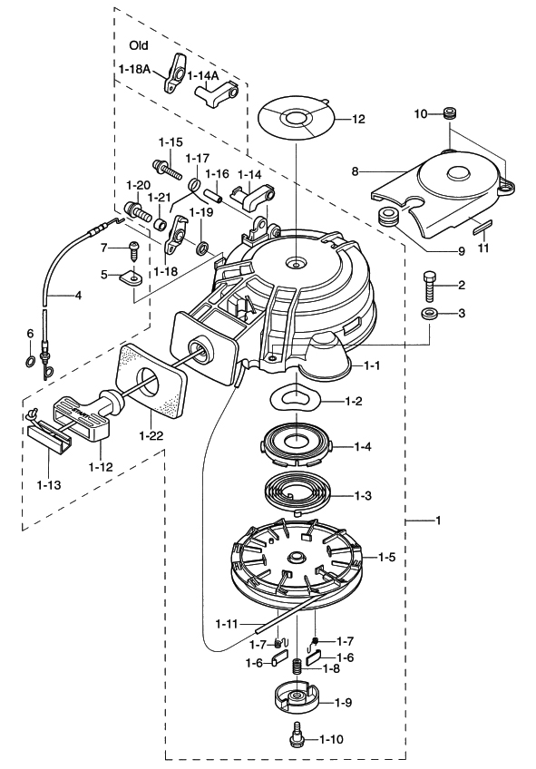10. RECOIL STARTER : , Reliable Source of Nissan Tohatsu