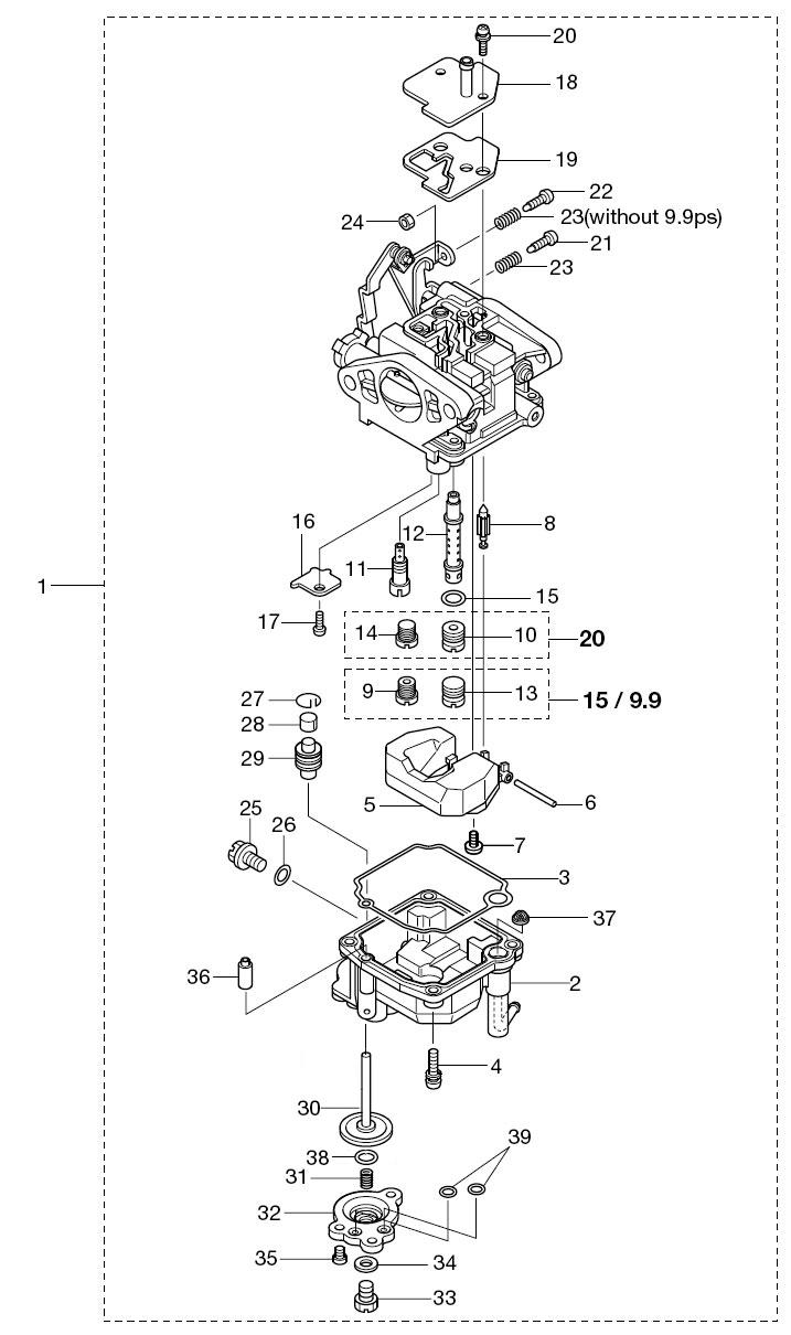6. CARBURETOR : , Reliable Source of Nissan Tohatsu Boat