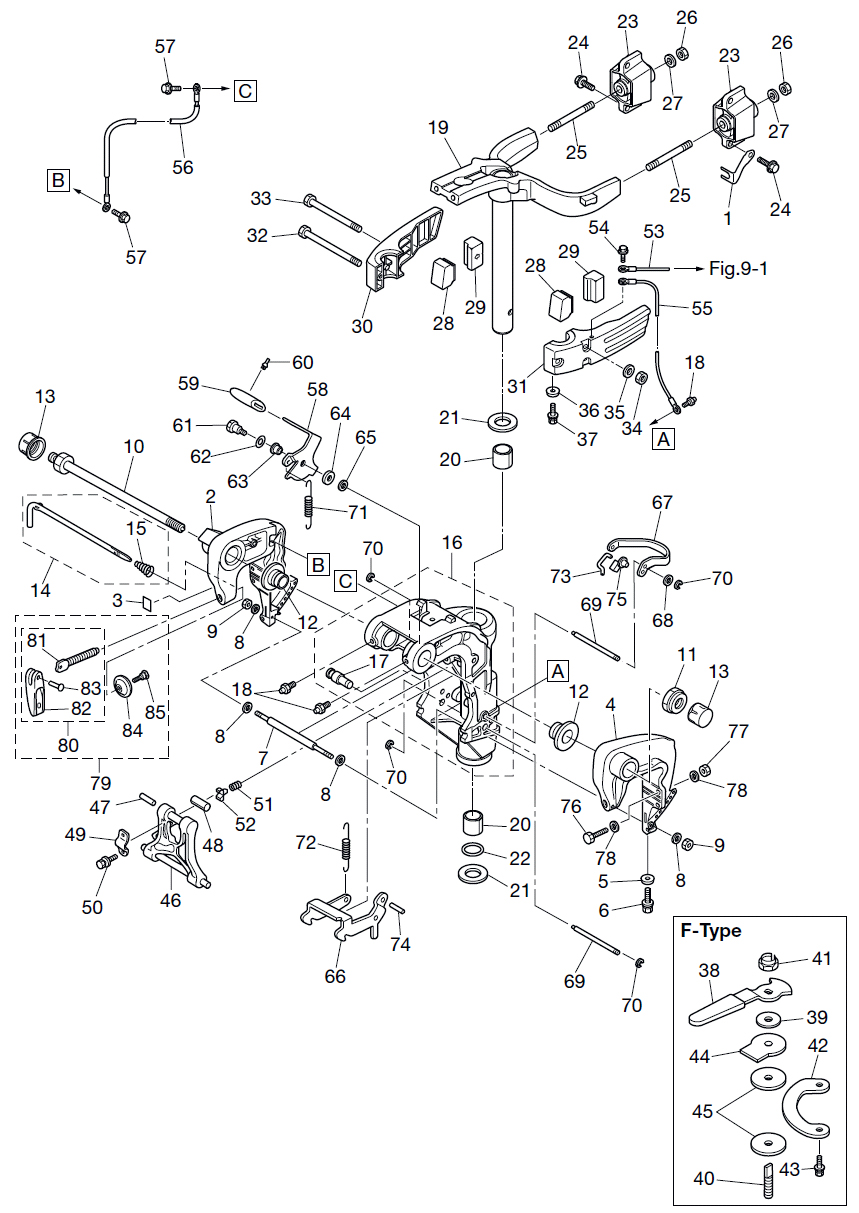 11. BRACKET (MANUAL) : , Reliable Source of Nissan Tohatsu