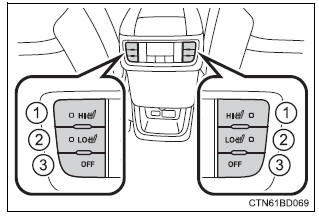 Toyota Highlander Owners Manual: Heated steering wheel