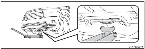 Toyota Highlander Owners Manual: Positioning a floor jack