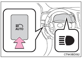 Toyota Highlander Owners Manual: Turning the high beam on