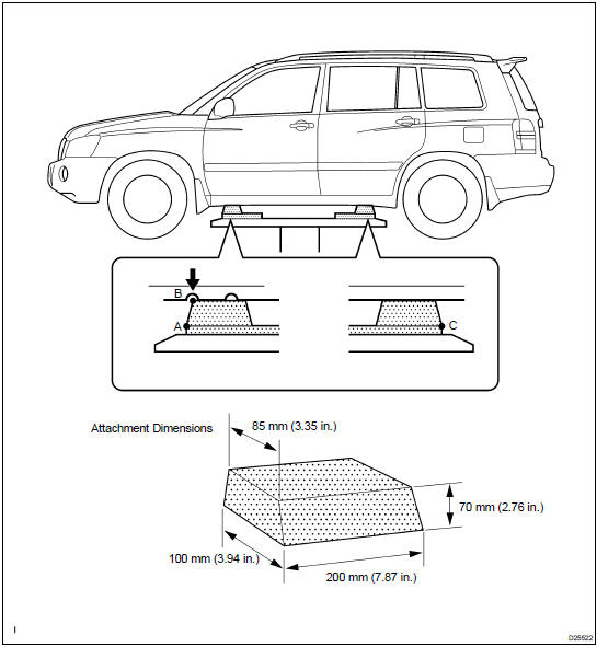 Toyota Highlander Service Manual: Vehicle lift and support