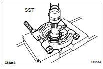 Toyota Highlander Service Manual: Rear drive shaft (4WD