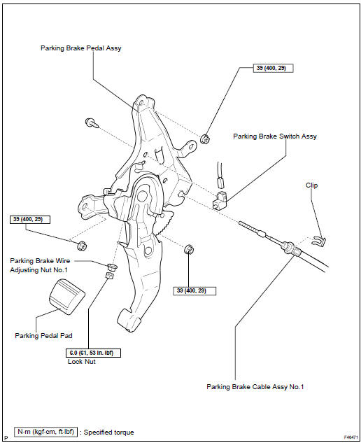 Toyota Highlander Service Manual: Parking brake control