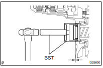 Toyota Highlander Service Manual: Front differential oil