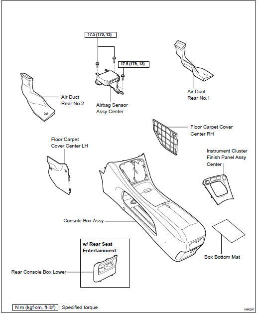 Toyota Highlander Service Manual: Air bag sensor ASSY