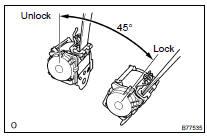 Toyota Highlander Service Manual: Rear NO.1 Seat belt