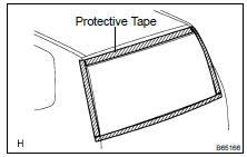Toyota Highlander Service Manual: Back door glass