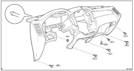 Toyota Highlander Service Manual: Instrument panel safety