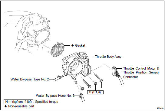 Toyota Highlander Service Manual: Throttle body ASSY (3MZ