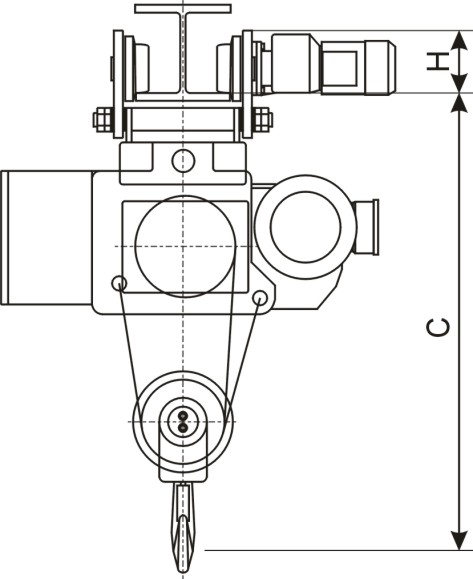 CD1 MD1 Model Electric Wire Rope Hoist with Trolley or