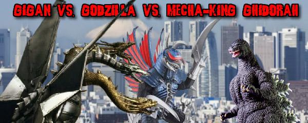 Match 129 Gigan vs Godzilla Heisei vs MechaKing Ghidorah