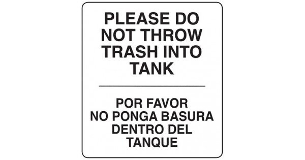Restroom Decals and Signs—Trash Sign