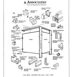 toilet partition diagram showing common components and replacement parts  [ 997 x 1280 Pixel ]