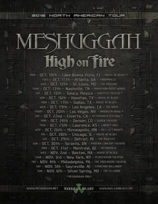 MeshuggahHOFtour