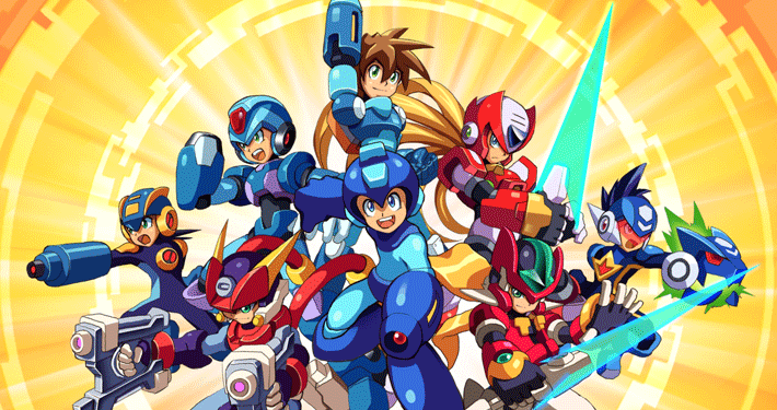 all mega man games art