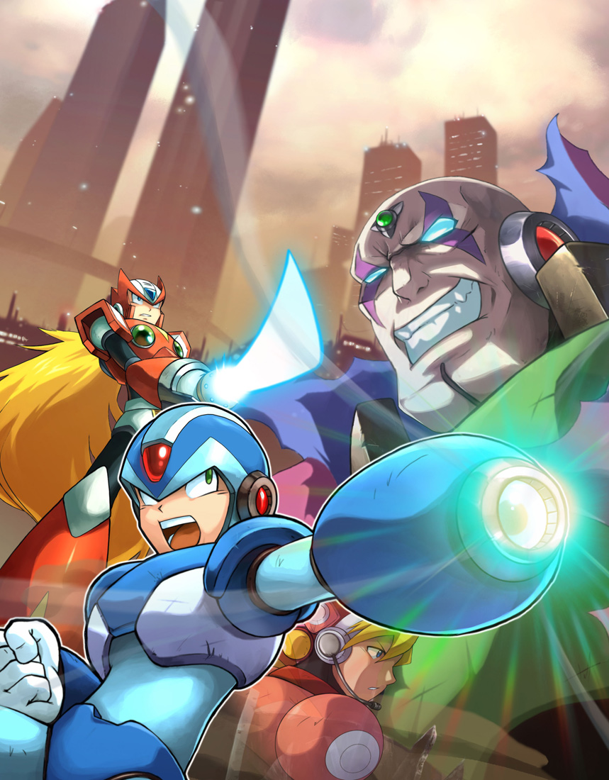 mega man x collection art