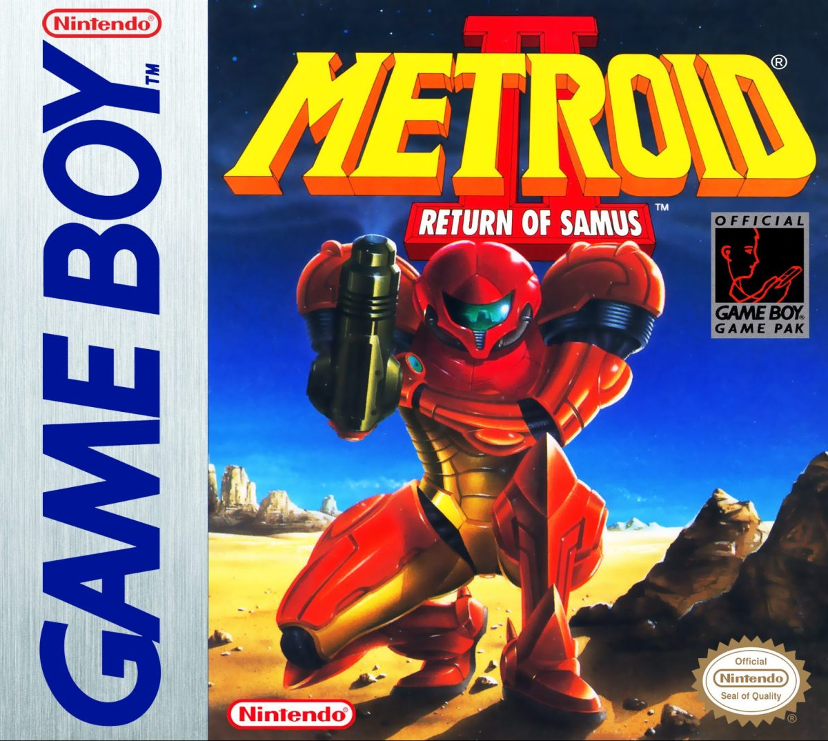 metroid II game boy cover official art