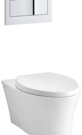 Kohler K 6303 0 Veil Elongated Dual Flush Wall Hung Toilet